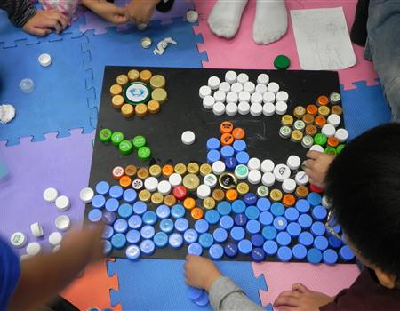 幼儿教师创意粘贴画